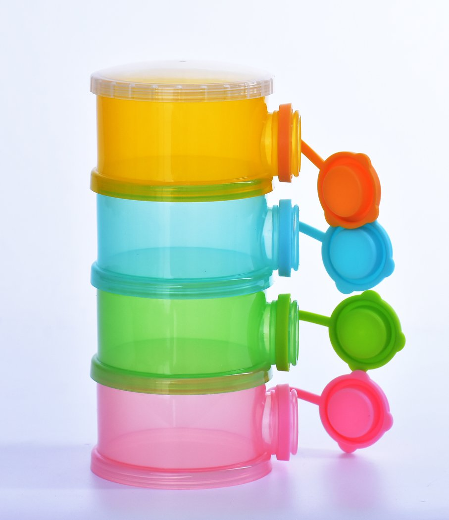 Formula Dispenser SKK Baby Snack Container 4 Compartments for Girls Boys BPA Free by SKK BABY