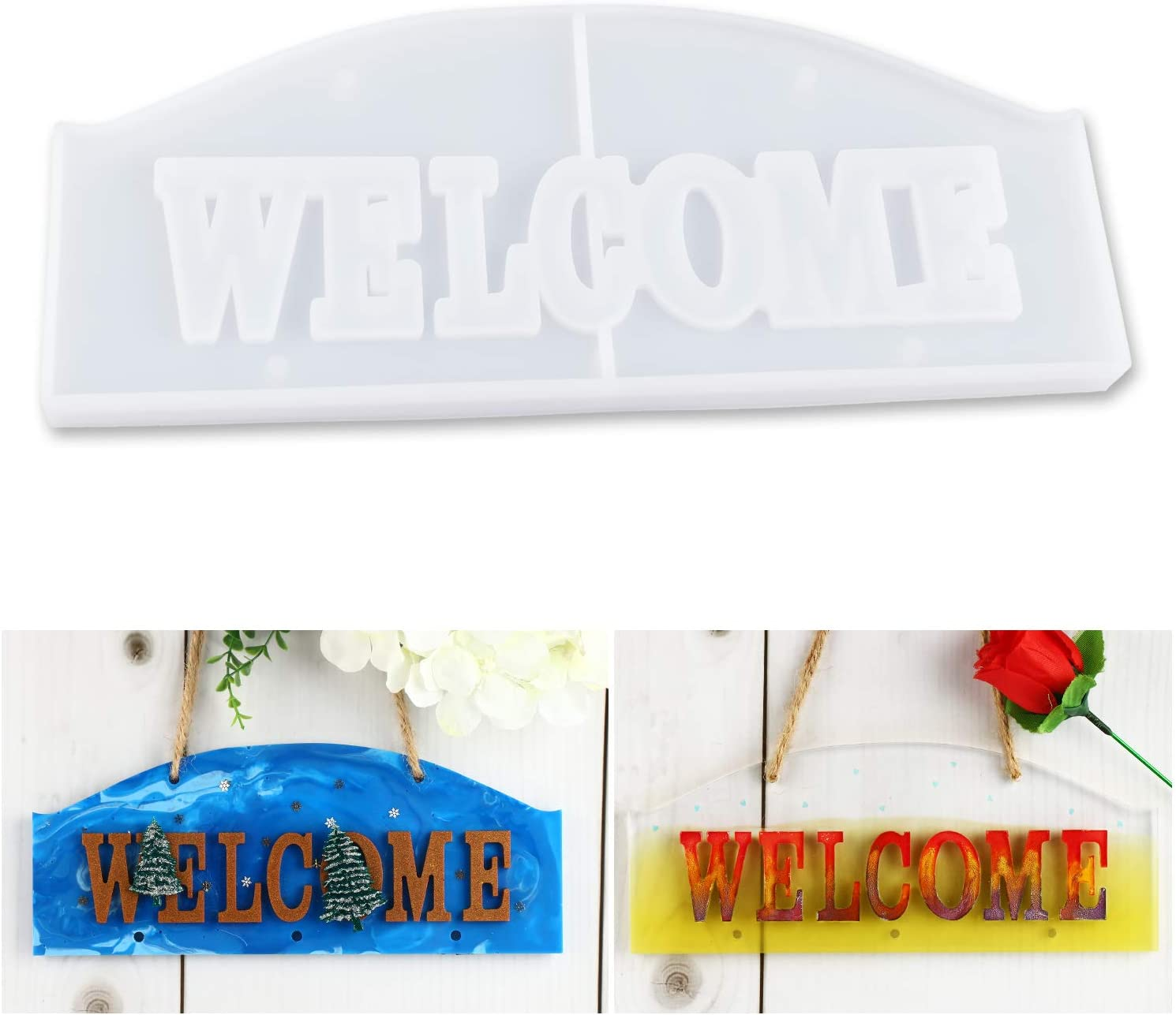 Silicone Resin Molds to Decorate Door//Wall Epoxy Resin Molds to Make Hangable Projects LETS RESIN Exclusive Welcome Mold
