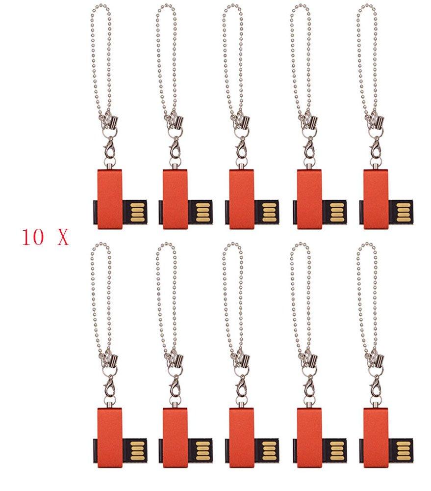 FEBNISCTE 100pcs 1GB Mini Red Cheap Bulk Pack USB 2.0 Memory Stick by FEBNISCTE