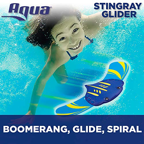 Aqua Stingray Underwater Glider, Swimming Pool Toy, Self-Propelled, Adjustable Fins, Travels up to 60 Feet, Dive and Retrieve Pool Toy ()