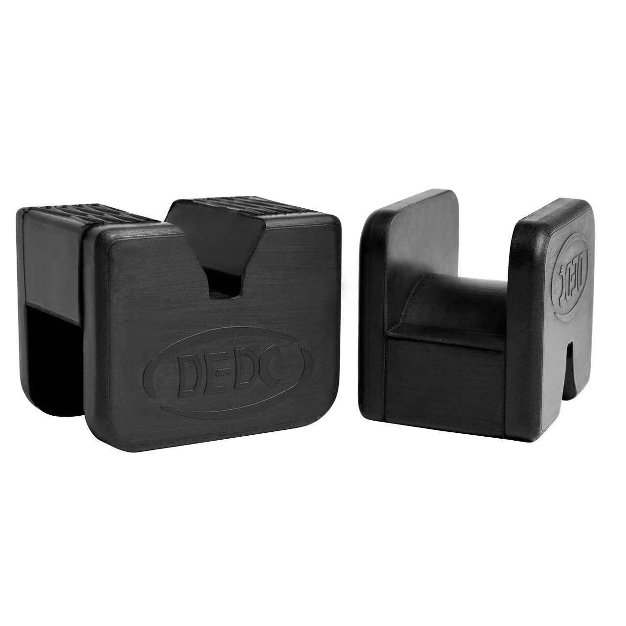 DEDC Jack Pad Universal Slotted Frame Rubber Frame Rail Protector Pinch Weld Protector (2 Pack)