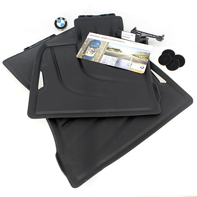 *NEW* BMW F15 X5 All-Weather FRONT Rubber Floor Mats, Black - #51472347728