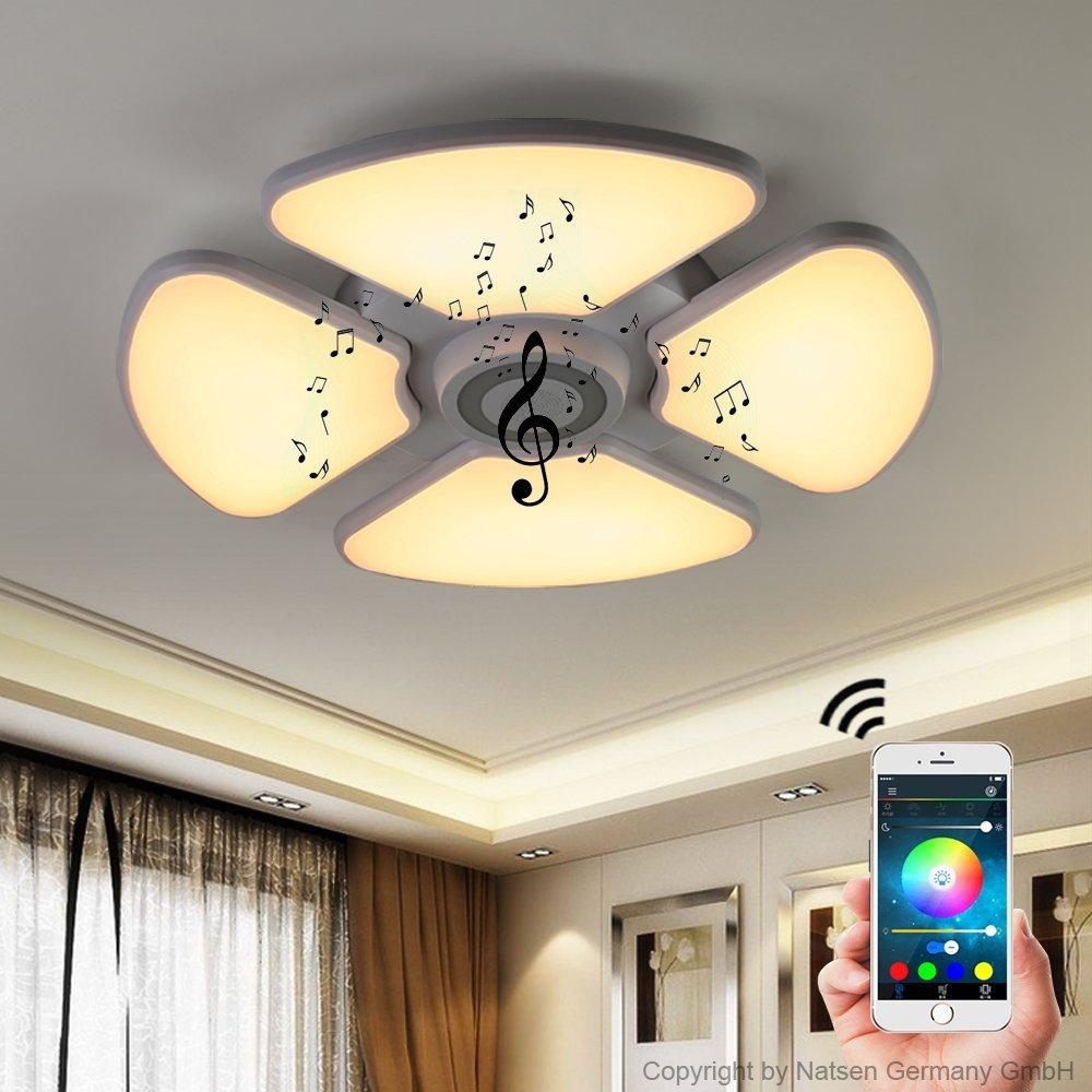 Led Deckenleuchten Wohnzimmer Dimmbar Deckenleuchte Deckenlampe Mit Bluetooth Funktion 72w