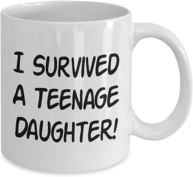 I Survived A Teenage Daughter Mug Gift For Daddy Father/'s Day Dad Gift Birthday