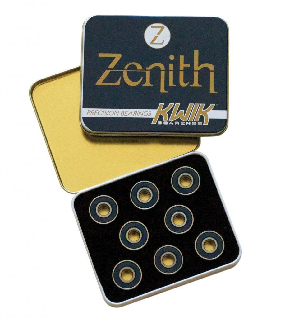 rulemanes KwiK - rulemanes Zenith - Juego de 16 rulemanes de patines de aleación con tratamiento térmico - 8 mm