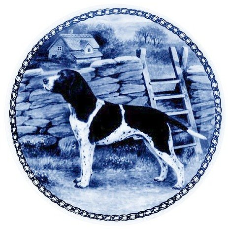 Old Danish Pointer   Lekven Design Dog Plate 19.5 cm  7.61 inches Made in Denmark NEW with certificate of origin PLATE  7283