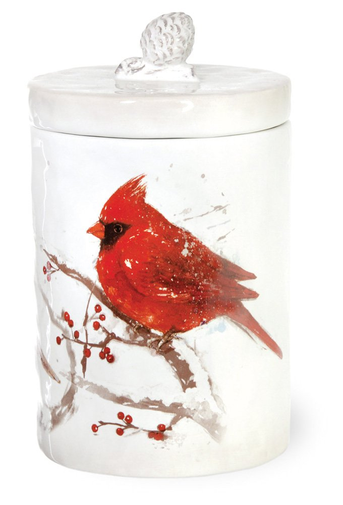 Celebrate the Home TMX17724 Birds of the Season Ceramic Cookie Jar Red Cardinal