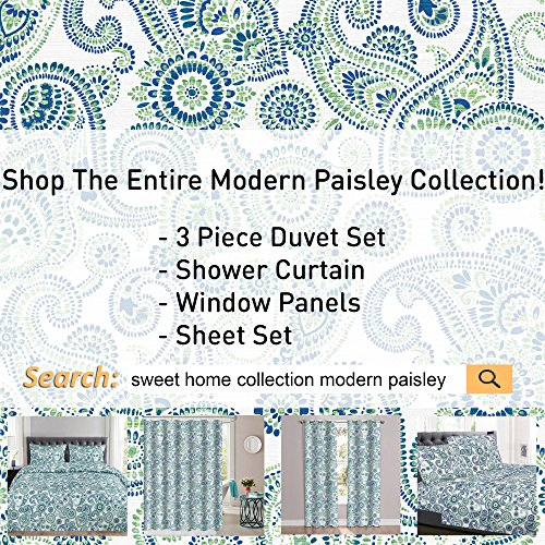 1500 Supreme Collection Extra Soft Modern Paisley Pattern Sheet Set, Full - Luxury Bed Sheets Set with Deep Pocket Wrinkle Free Hypoallergenic Bedding, Trending Printed Pattern, Full Size