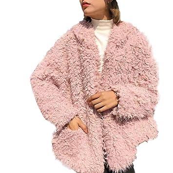 Mujer y Niña chaquetas otoño fashion fiesta carnaval,Sonnena ❤ Abrigo esponjoso de invierno para mujer Fleece Fur Jacket Outerwear Abrigo de invierno con ...