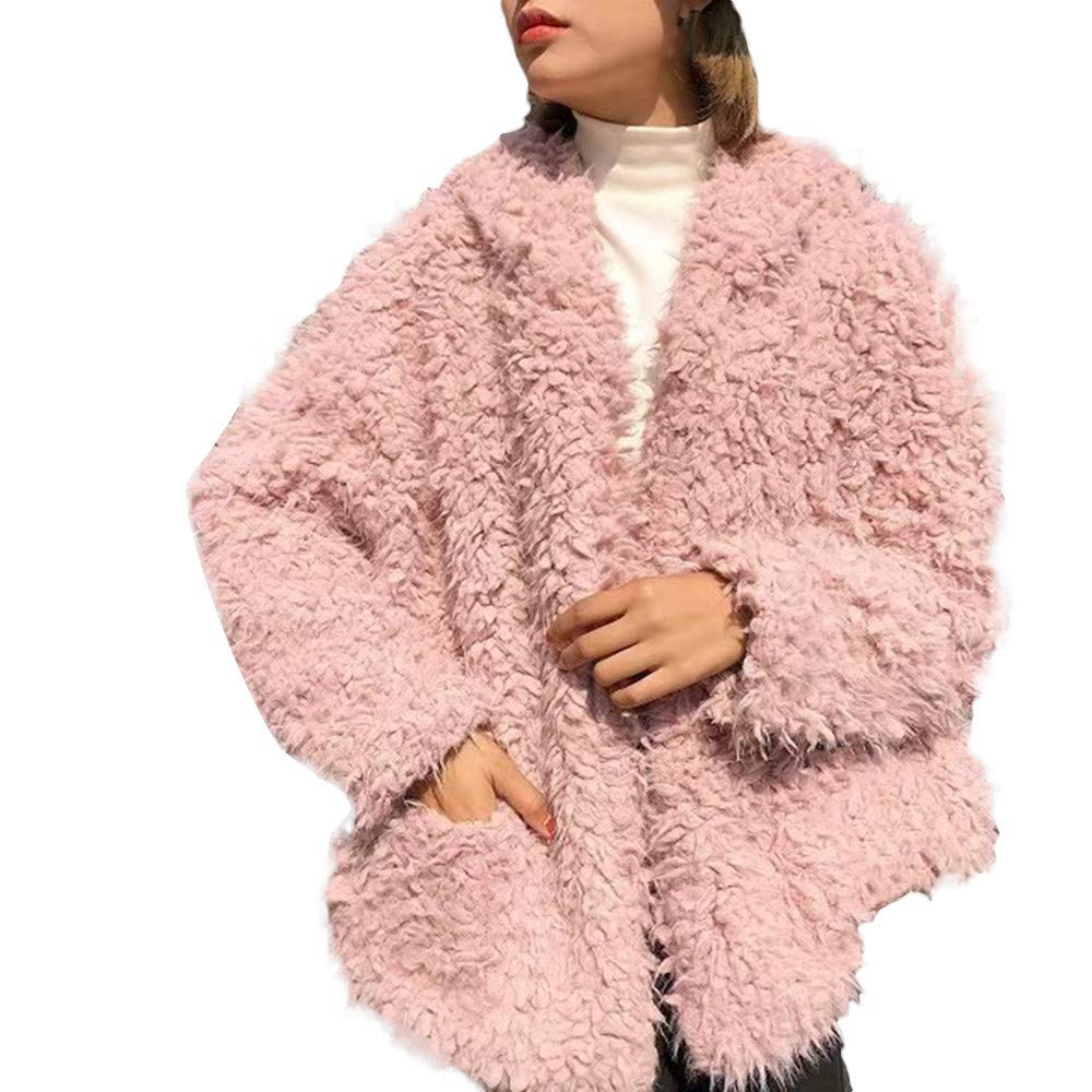 QIQIU ⭐️ Clearance! Women's Fluffy Coat, Ladies New Winter Warm Fashion Artificial Hair Hoodies Jacket Outerwear QIQIU_323