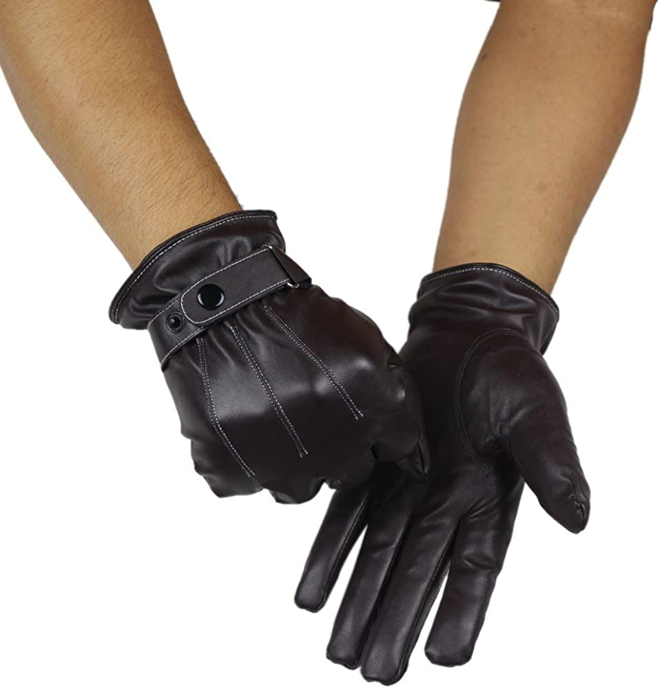 Walking Ridding and Driving for Men /& Women Cycling CakeLY Winter Gloves Waterproof Outdoor Leather Gloves for Running