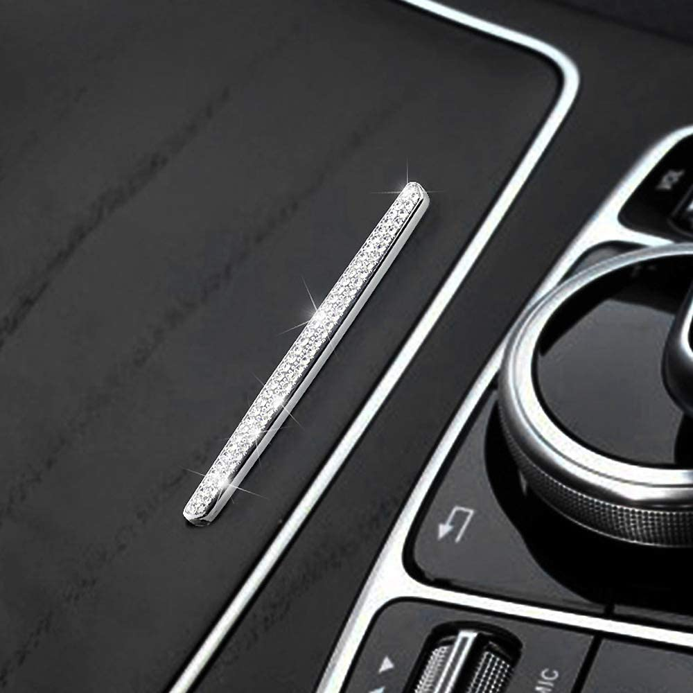 Car Interior Trim Bling Accessories Cup Holder Cover Switch Caps Center Console Decals Stickers fit for Mercedes Benz C-Class E-Class GLC