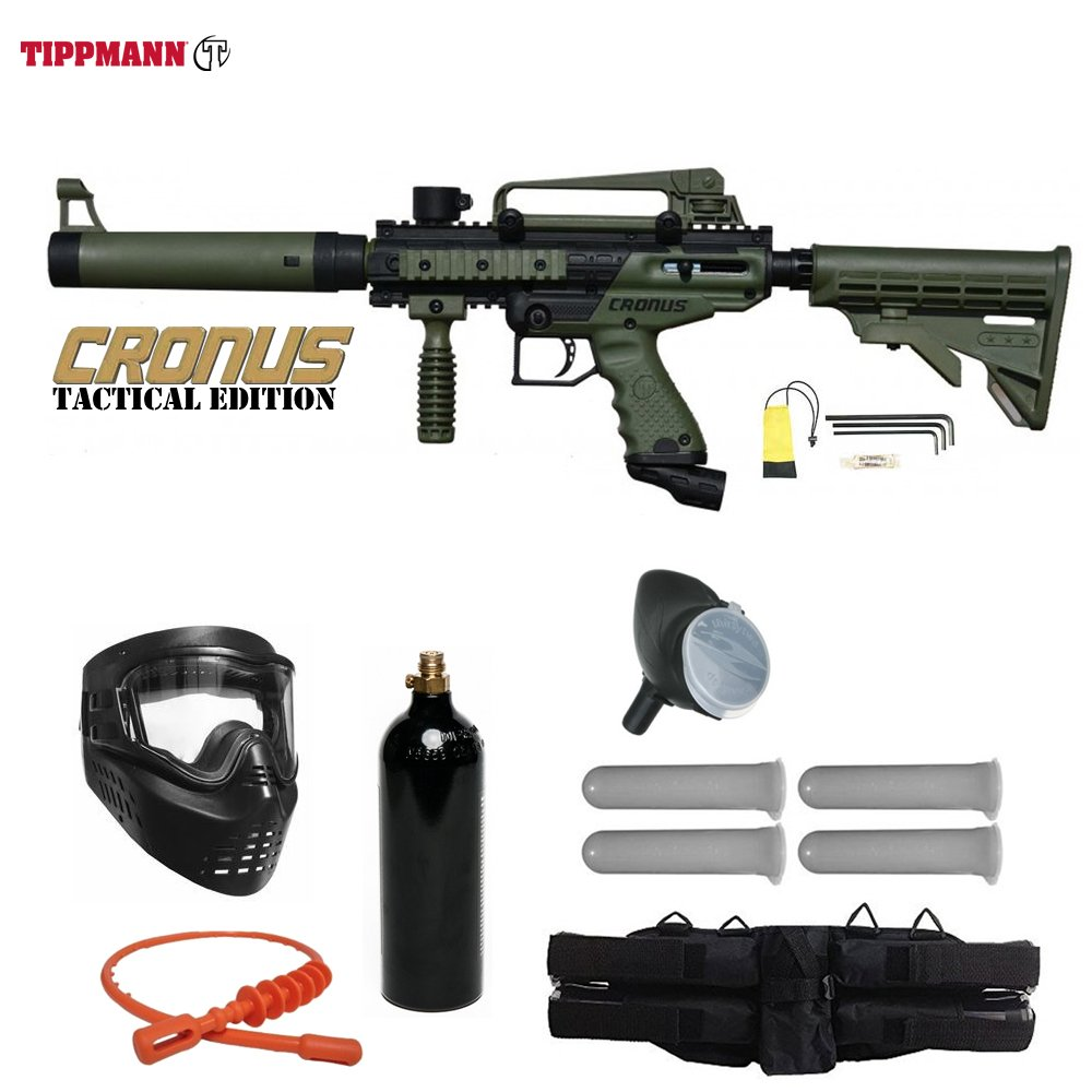Tippmann Cronus Paintball Marker Gun -Tactical Edition- Olive Starter Package by Tippmann