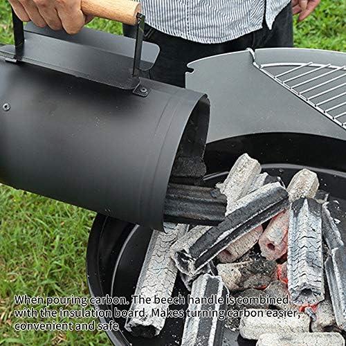 ONEVER Barbecue à Baril Portable, Baril dallumage à Charbon Rapide en Acier Inoxydable au Carbone - Accessoire doutils de Support de Barbecue
