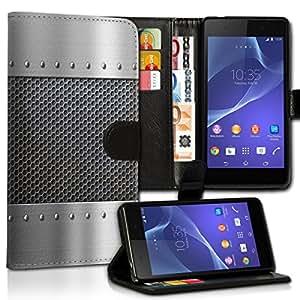 Wallet Wicostar–Funda Case Funda Carcasa diseño Funda para Samsung Galaxy Note Edge–Diseño Flip mvd57