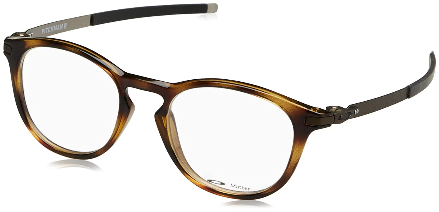 Amazon.com  Oakley Designer Eyeglasses Pitchman R OX8105-0350 in  Brown-Tortoise 50mm DEMO LENS  Clothing 749ea7047f