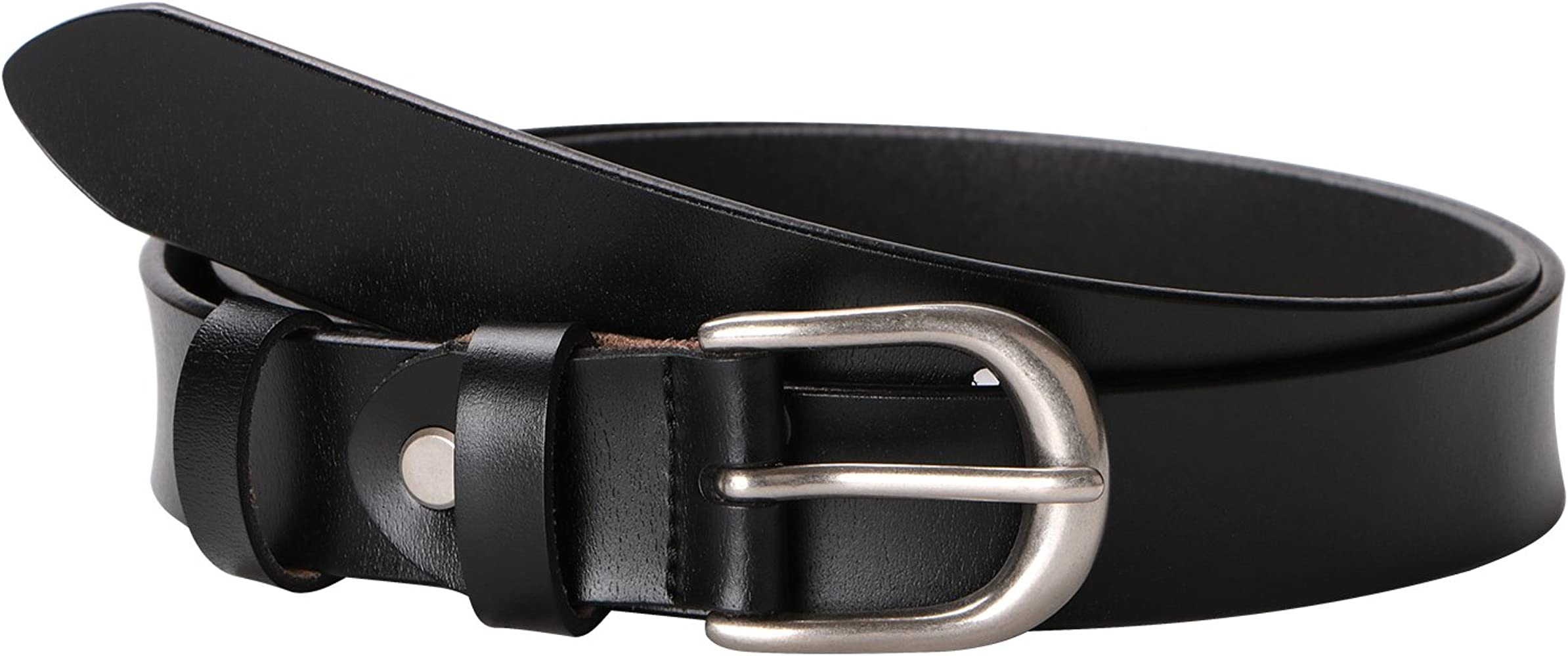 Women Skinny Leather Belt Thin Jeans Belts With Silver Prong Buckle Muti-Colors