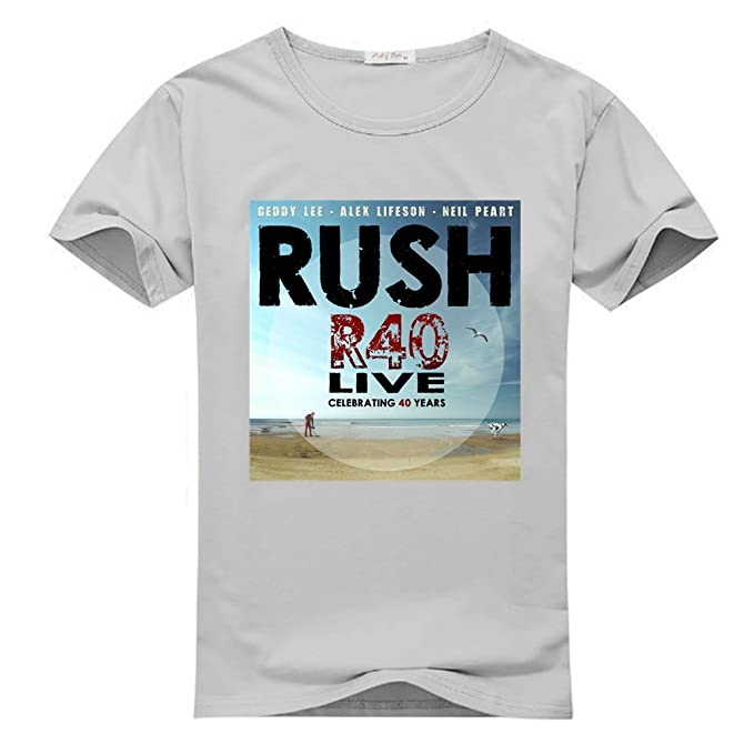 49c73846ef Rush R40 Live Tour for Men Printed Short Sleeve Tee T-shirt: Amazon ...