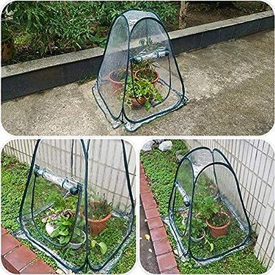 Invernaderos Jardin Al Aire Libre Patio Mini Carpa Cultivo De Plantas PVC Transparente Impermeable Portátil Plegable BAI Yin (Color : Clear, Size : 28x28x31in): Amazon.es: Hogar