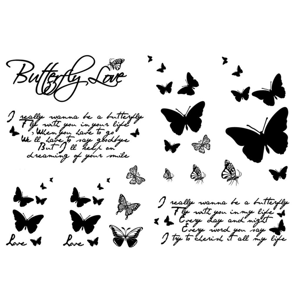 NaiCasy Tattoo temporaneo farfalla donna corpo tatuaggio adesivo per donne falsificato impermeabile tatuaggio temporaneo nuovo design Body Art 1 pz.