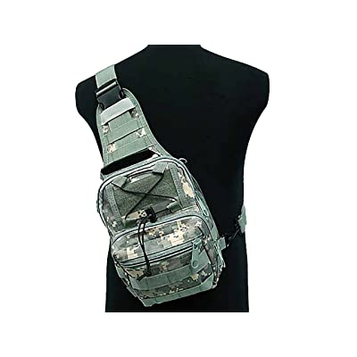 Tactical Molle Utility 3 Ways Shoulder Sling Pouch Backpack Chest Bag Small ACU