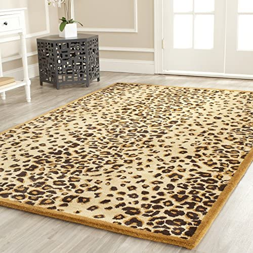 Martha Stewart Safavieh Collection MSR3621E Premium Wool and Viscose Kalahari Teak Area Rug 4 x 6