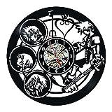 3D Vinyl Record Clock Creative Hollow Art Deco Wall Clock Child Gift Vintage Wall Clock