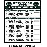 amazon com 2018 new york giants nfl football schedule and scores