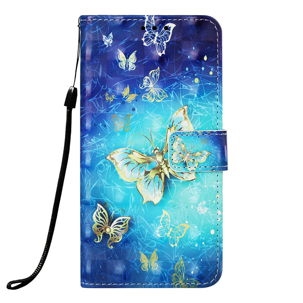 Strap Leather Case for Galaxy A40,Wallet Flip Case for Galaxy A40,Herzzer Stylish Elegant 3D Sunrise Scenery Pattern Magnetic Stand PU Leather Case with Soft TPU