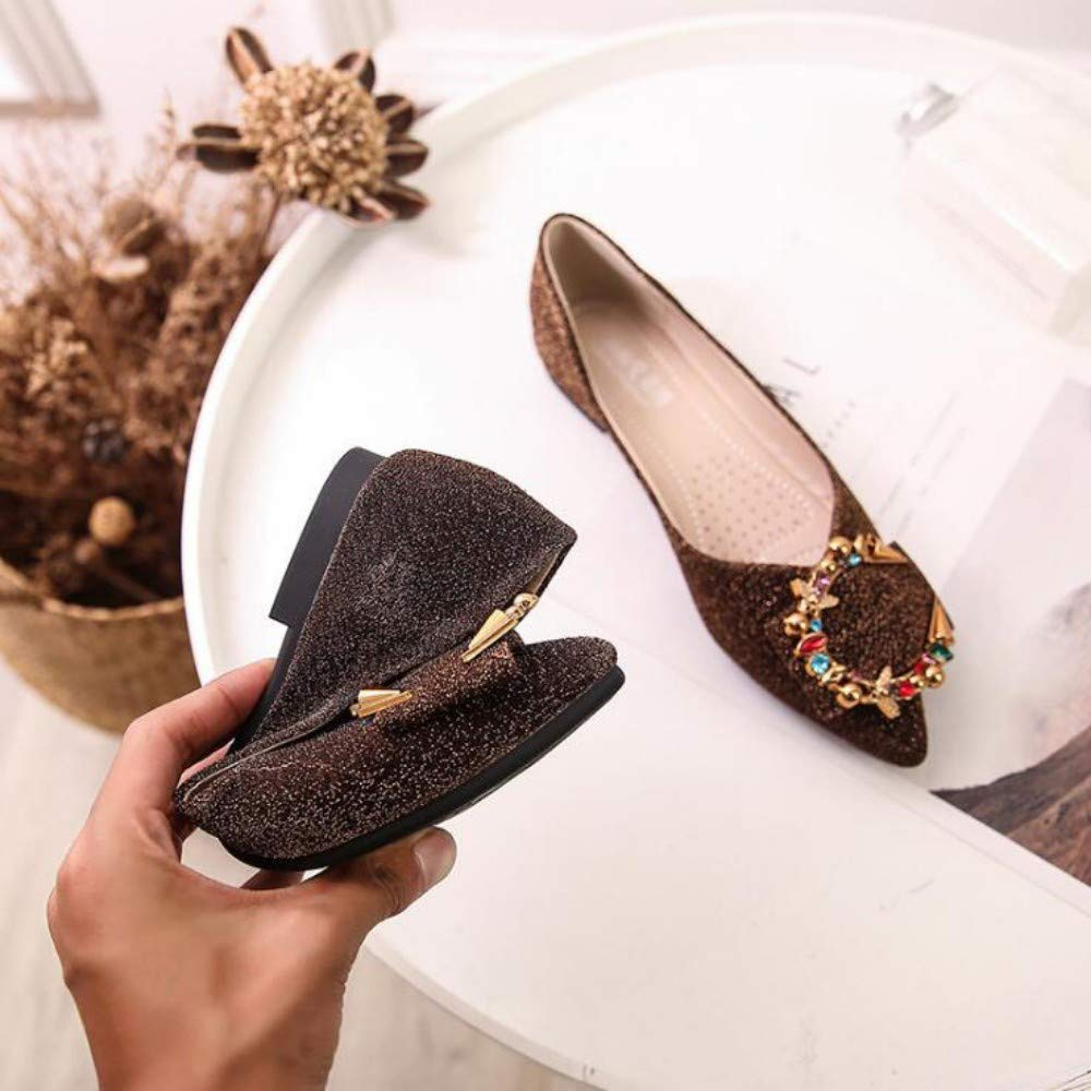 XL_nsxiezi Weicher Boden der Spitzen flachen Schuhe der Frauen B07QFMC5XL Sport- & Outdoorschuhe Online-Verkauf
