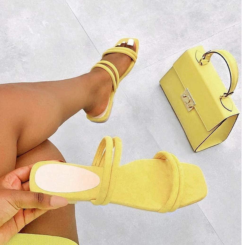 Women Fashion Pure Color Slide Sandals Slip On Seduce Double Strap Flat Open Toe Summer Walk Shoes by Nevera
