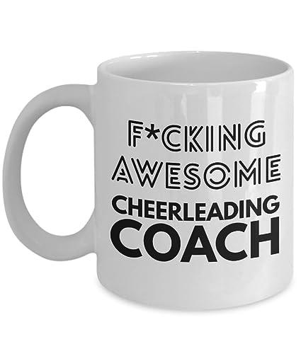 Amazoncom Cheerleading Coach Mug Fcking Awesome