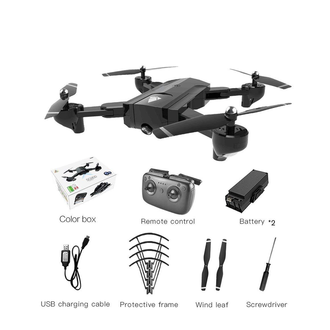 en venta en línea Negro Negro Negro Funnyrunstore SG900 Drone RC Plegable 2.4GHz WiFi Drones ópticos Flujo de posicionamiento Avión Drone RC con cámara 4K y batería 2  2200mAh  edición limitada en caliente