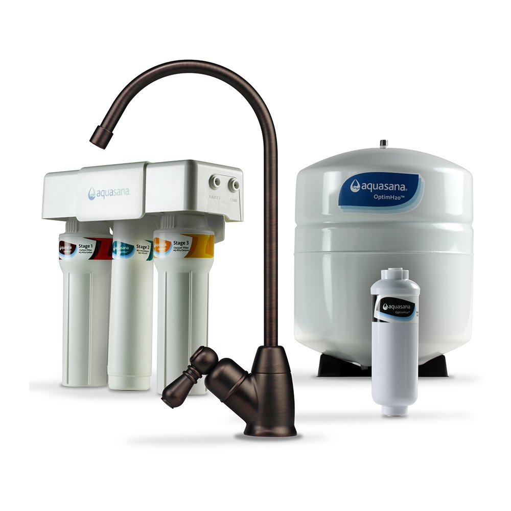 Aquasana AQ-RO-3.62 OptimH2O Reverse Osmosis Fluoride Water Filter, Oil-Rubbed Bronze by Aquasana