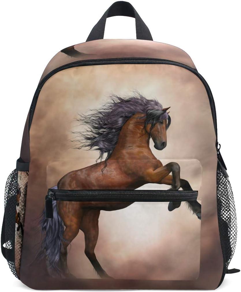 ISAOA Niño 3D caballo marrón niños mochilas Kinder preescolar niño niños/niñas mochila mochilas lindo