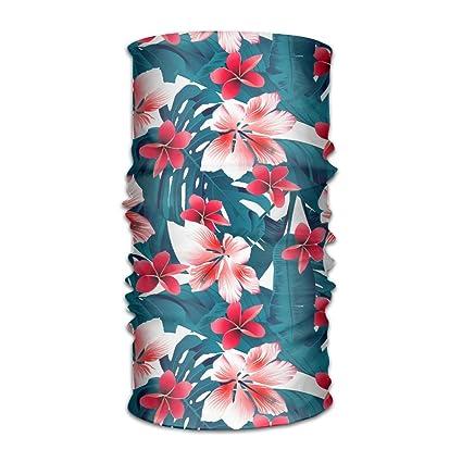 Amazoncom Men Women Tropical Hibiscus Flowers Daily Headscarf Uv