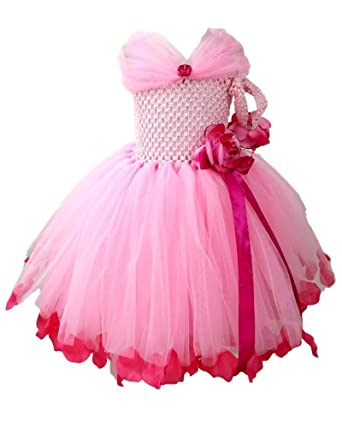 9116b4c2b6 Kushali Girl's Tutu Dress,KUSH01_10Y_Pink_10 Years: Amazon.in ...