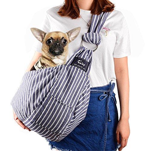 CUBY 애완동물 슬링(sling) 견포옹뉴 슬링(sling) 백 소형견 고양이용/개용(길이 조정 가능)