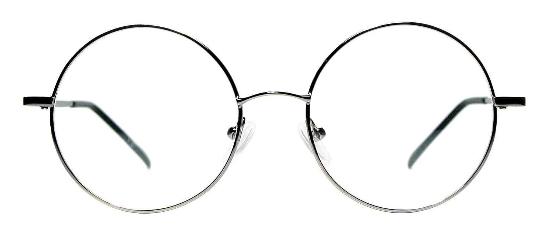 b283198f14 Amazon.com  Metal Full Rim Round Eyeglasses Frame (Large Size) - Black