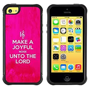 iDesign Rugged Armor Slim Protection Case Cover - UNTO THE LORD - Apple Iphone 5C