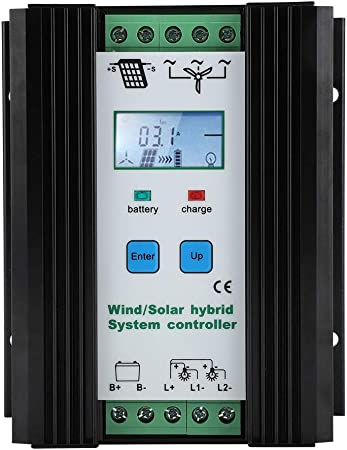 Ftvogue Hybrid Solar Wind Laderegler 12v Digitale Intelligente Steuerung Boost Laderegler Solarladeregler Wind 300w Pv 200w Küche Haushalt