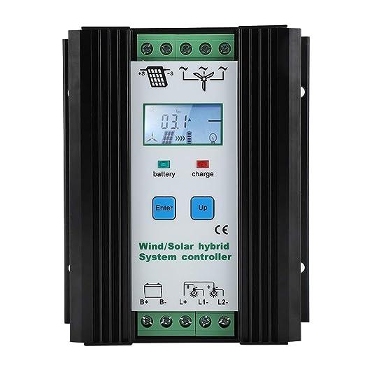 LCD Viento Solar Híbrido Controlador de carga, Aumentar la carga 12V Auto Iluminación Farola Controlador de Carga Digital Control Inteligente Regulador de Carga de impulso