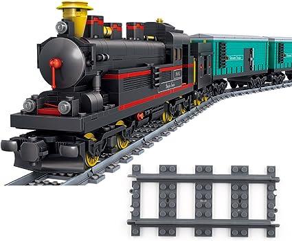 4 Lego Eisenbahn TRAIN Schiene Gerade BLAUGRAU