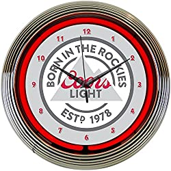 Neonetics 8MCOOR Coors Light Beer Born in The Rockies Neon Clock