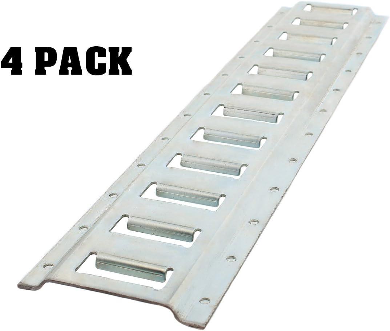 4 Pack ABN E Track Rail 2ft Horizontal E-Track Trailer Tie Down Rails Steel Etrack Rail E Track System