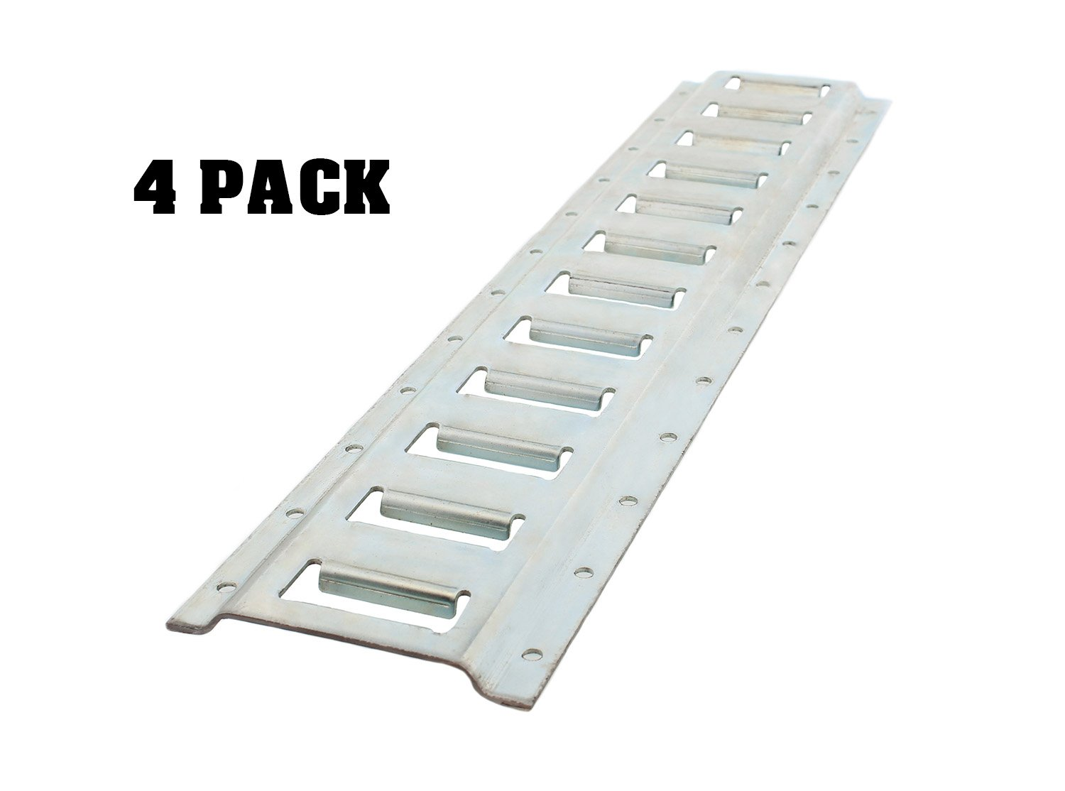 ABN 2' Foot Galvanized Horizontal E-Track Zinc Plated 4-Pack – Tie down Rail for Securing Cargo Auto Body Now 4336326041