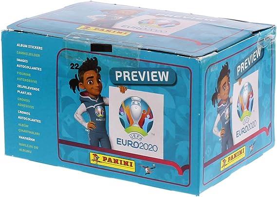 Panini - Caja de 100 fundas Euro 2020 Stickers, 2601-004: Amazon ...