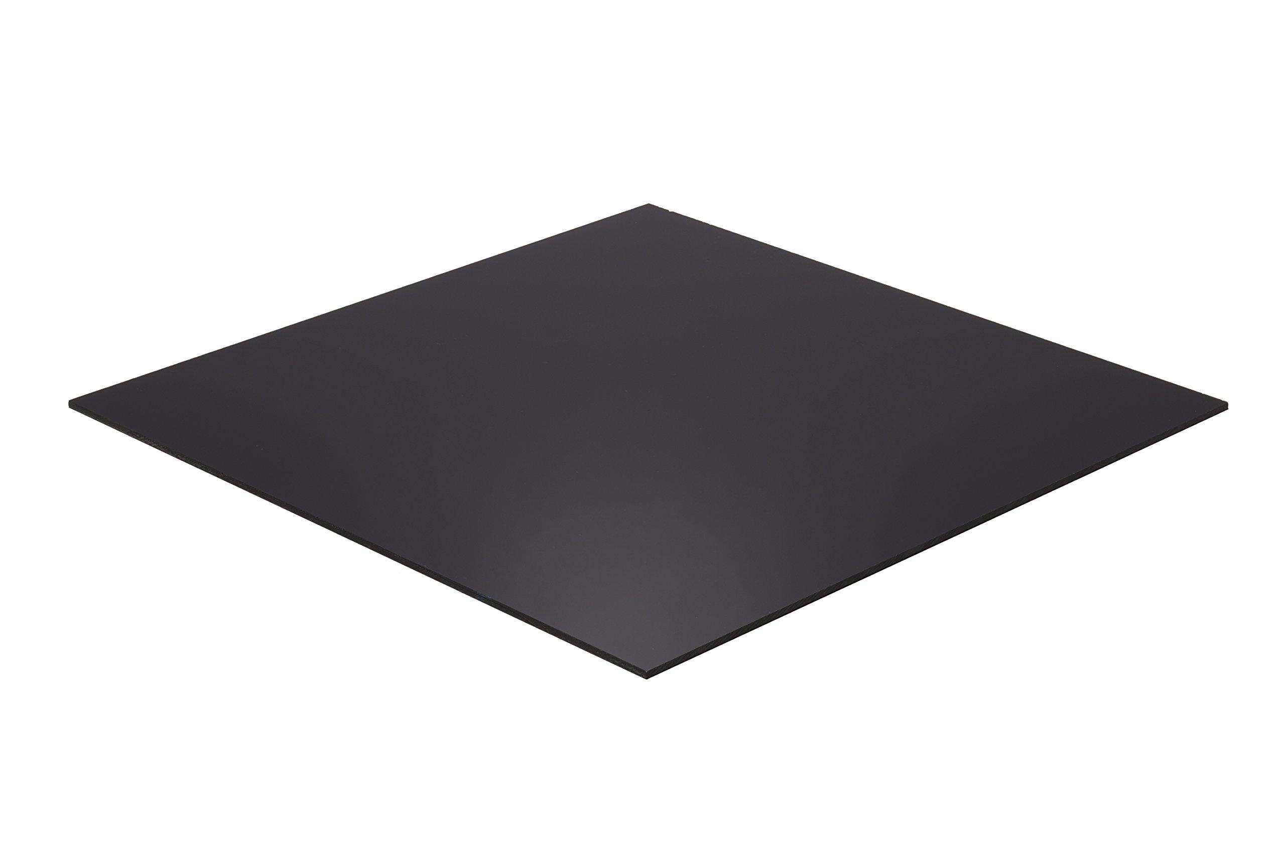 Falken Design BK2025-1-8/1224 Acrylic Black Sheet, 12'' x 24'', 1/8'' Thick by Falken Design Corporation