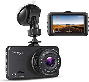 "Dash Cam,Innosinpo 1080P 3"" FHD DVR Dashcam for Car Dashboard Camera with 170 Degree Wide Angle WDR G-Sensor Loop Recording and Motion Detection"