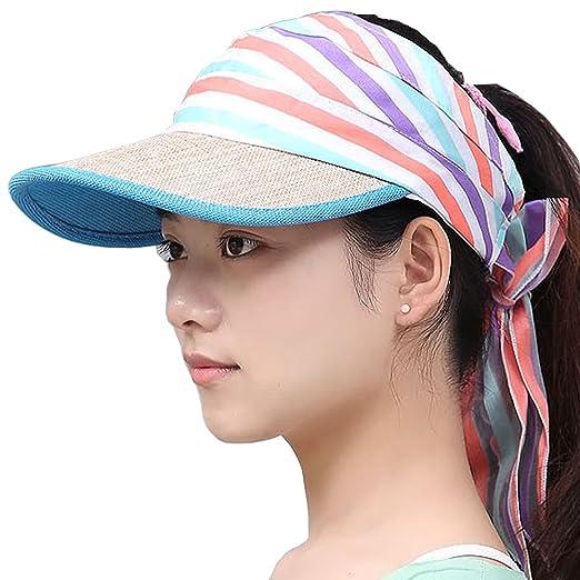 e13efc50088423 Flyou Adjustable Sports Sun Hat Summer Wide Brim Empty Top Visor Running  Golf Baseball Ball Cap